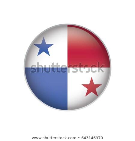 Polityczny banderą Panama świat kraju Zdjęcia stock © perysty
