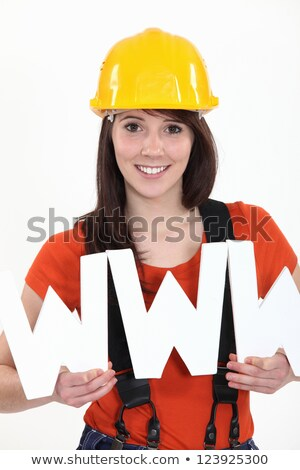Tradeswoman embracing technology Stock photo © photography33
