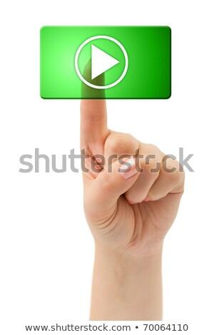 registro · ícone · verde · vidro · isolado · branco - foto stock © zeffss