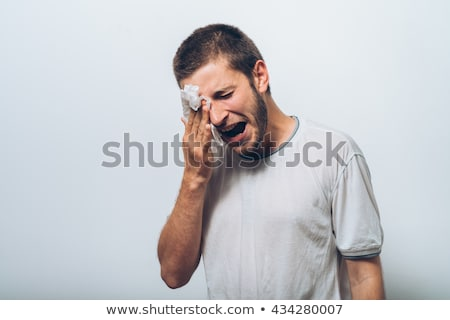 Man crying tears of frustration Stock photo © photography33