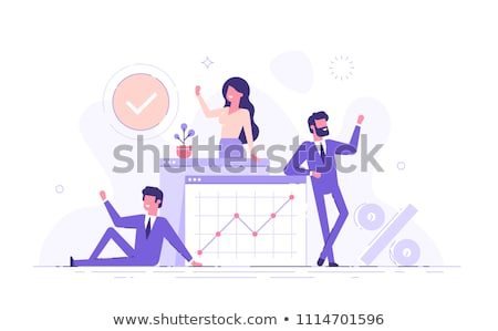 businessman with joined hands making presentation Stock photo © photography33