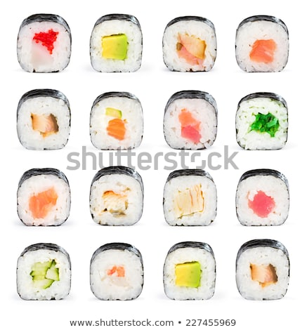 Isolado maki rolar comida fundo branco Foto stock © M-studio