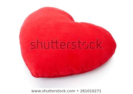 Kırmızı kalp yastık görüntü kadın Çin Stok fotoğraf © pongam
