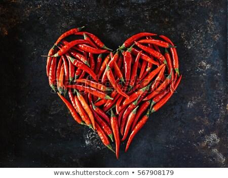 сердце · красный · белый · изолированный · природы - Сток-фото © mironovak