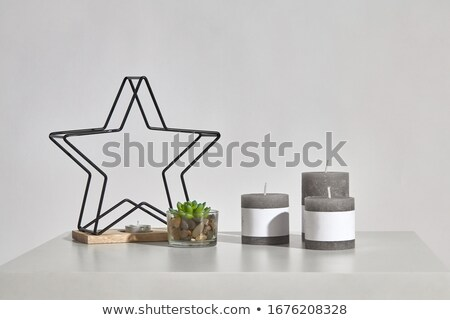 Modern Candlestick in three different colors Stock photo © Quka