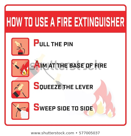 Hand pulling pin of fire extinguisher Stock photo © wavebreak_media
