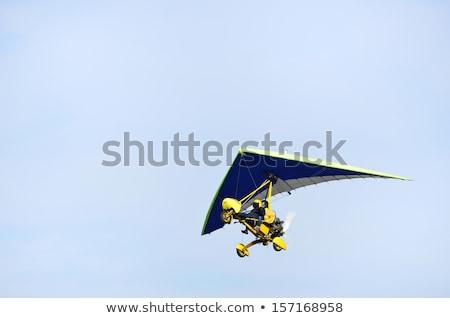 Stock fotó: Repülőgép · kép · kettő · repülőgépek · légy · égbolt