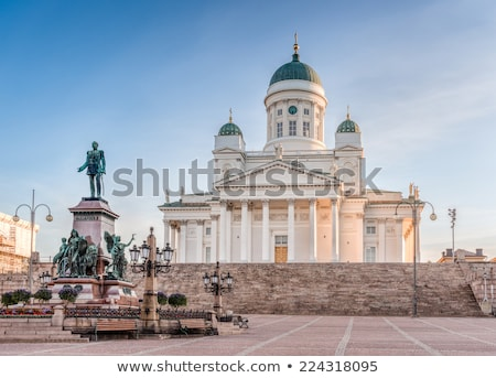 Helsinki · kathedraal · Finland · Blauw · bewolkt - stockfoto © kyolshin