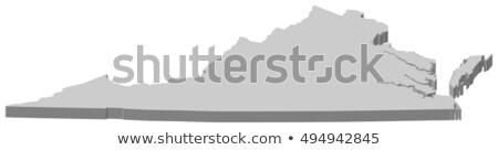 バージニア州 · 3D · セット · アイコン · 地図 - ストックフォト © cteconsulting