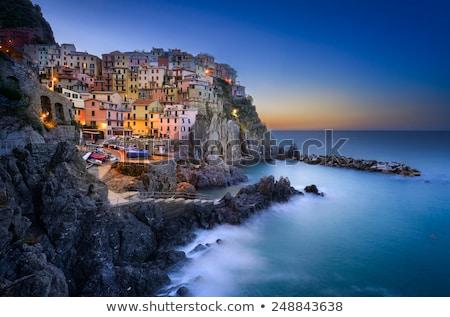 Village of Corniglia in the Morning, Cinque Terre, Italy Stock photo © anshar