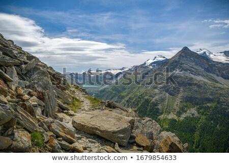 route · Suisse · alpes · ciel · nuages · vert - photo stock © janhetman