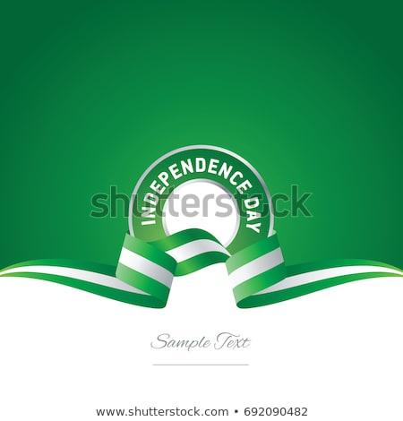Pokaż · Nigeria · szczegółowy · ilustracja · banderą · eps10 - zdjęcia stock © gubh83