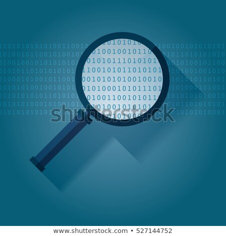 data encryption   magnifying glass stock photo © tashatuvango