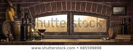 still life of corkscrew with a cork Stock photo © phbcz