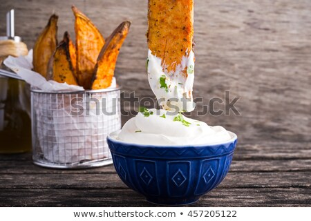 vegetable and cream dip Stock photo © M-studio