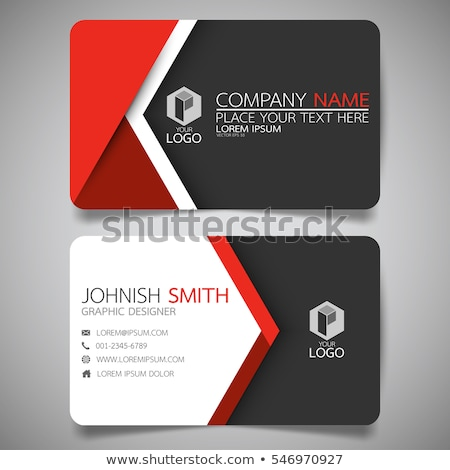 Modern white and red business card template Stock photo © orson
