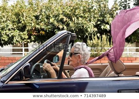 Kadın spor araba yol güneş spor ağaçlar Stok fotoğraf © monkey_business