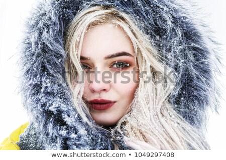 inverno · moda · mulher · pele · luvas · fora - foto stock © aladin66