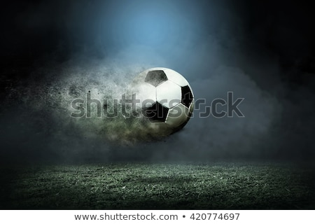 Abstract colurful football explode Stock photo © pathakdesigner