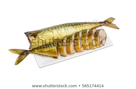 Hideg dohányzás makréla gyönyörű nagy étel Stock fotó © romvo