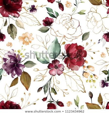kártya · virágmintás · minta · űr · szöveg · egyéb - stock fotó © tanya_ivanchuk
