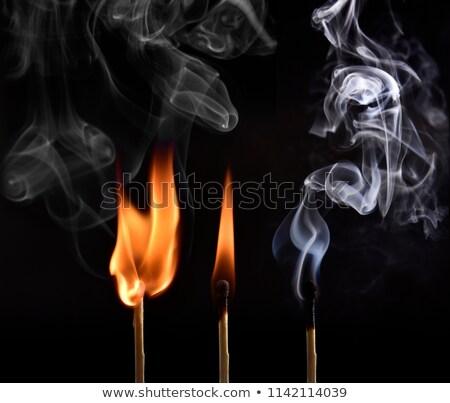 burning matchstick flame Stock photo © tilo