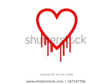 Clean heartbleed openssl bug vector shape Stock photo © slunicko