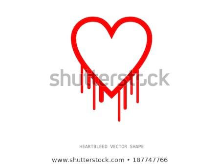 bicho · vetor · forma · hemorragia · coração · parede - foto stock © slunicko