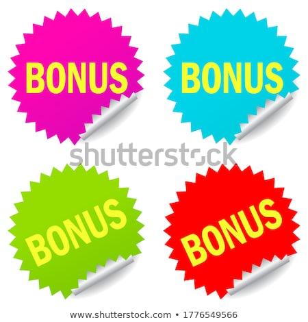 Bonus yeşil vektör ikon düğme Internet Stok fotoğraf © rizwanali3d