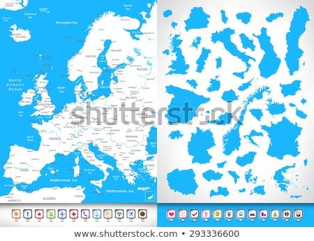 высокий подробный вектора карта Бельгия навигация Сток-фото © tkacchuk