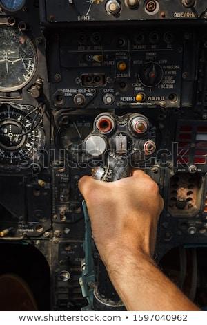 Combattente aeromobili naso cabina dettaglio cielo blu Foto d'archivio © Zhukow