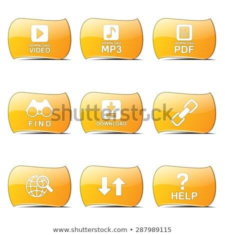 Multimedialnych internetowych Internetu żółty wektora projektu Zdjęcia stock © rizwanali3d