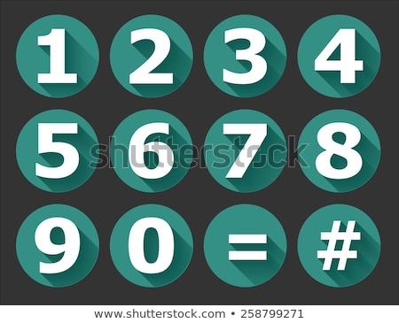 Aantal vector groene web icon technologie web Stockfoto © rizwanali3d