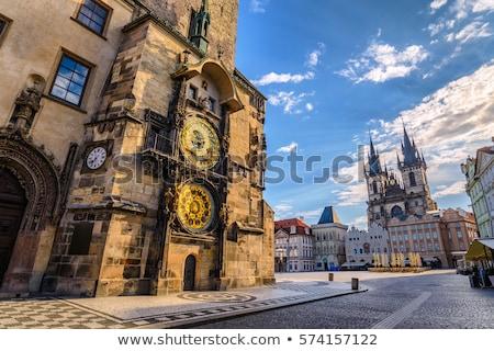 Astronomico clock Praga città vecchia piazza noto Foto d'archivio © stevanovicigor