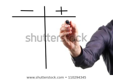 pro and contra on black board stock photo © fuzzbones0