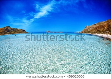 balos beach at crete island in greece stock photo © kasto