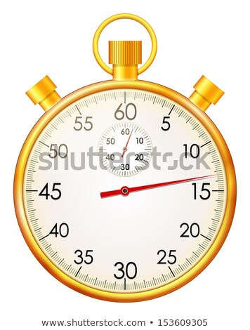 Stopwatch gouden vector icon knop technologie Stockfoto © rizwanali3d