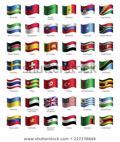 Svájc western Szahara zászlók puzzle izolált Stock fotó © Istanbul2009