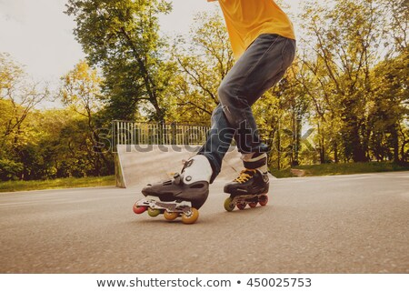 row of roller legs on the grass Stock photo © Paha_L