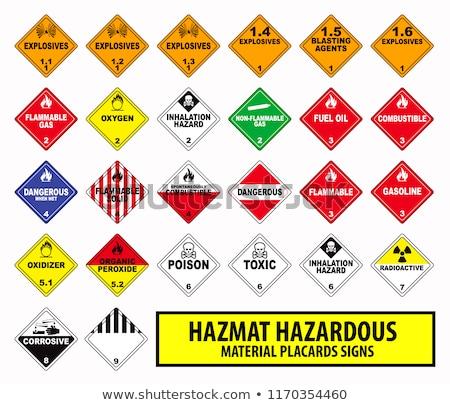 Radioactieve teken Geel vector icon ontwerp Stockfoto © rizwanali3d