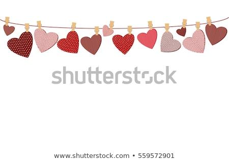 愛 · 中心 · 絞首刑 · 文字列 · ショット · 木製 - ストックフォト © tommyandone