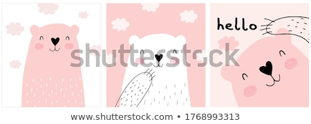 Fluffy Herz Herzform Kissen Hochzeit Stock foto © Supertrooper