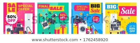 Sprzedaży gospodarstwo domowe urządzenia smartphone elektronicznej urządzenie Zdjęcia stock © robuart