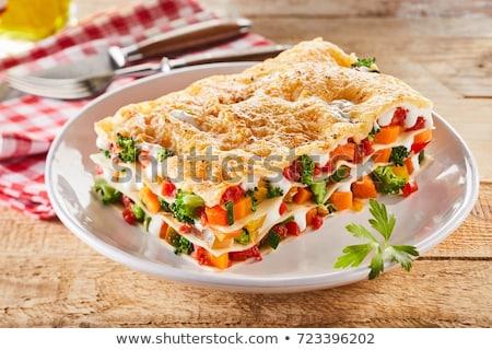 Foto stock: Vegetariano · refeição · queijo · conselho · vegetal · creme