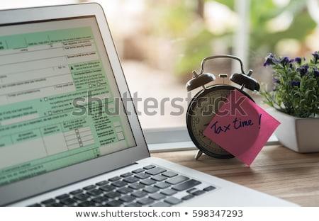 Steuer Prüfung einzelne Einkommen Form vertikalen Stock foto © tab62