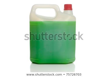 Botões produtos químicos recipiente branco fundo vermelho Foto stock © bluering