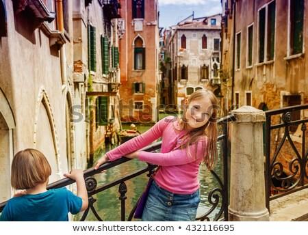 kids tourists in venice stock photo © zurijeta
