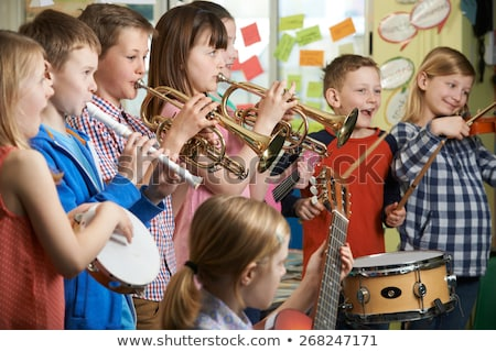 Children in school band at school Stock photo © bluering