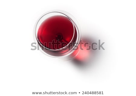 Red Wine In A Wine Glass. The Top View Stock photo © Alex9500