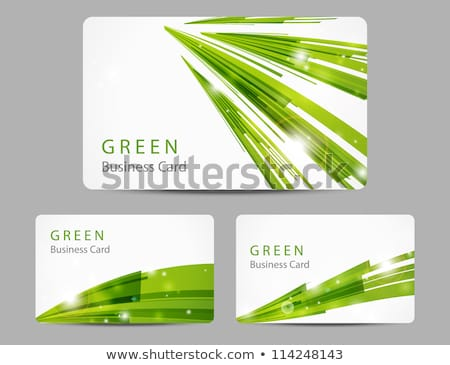 green business card and headers stock photo © SArts